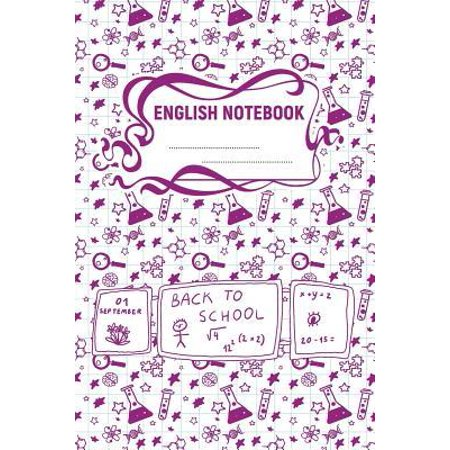 English Notebook: A 6x9 Inch Matte Softcover Paperback Notebook Journal With 120 Blank Lined Pages - Wide Ruled -Test Tubes, Beakers, Ma (Test Glasses Online)