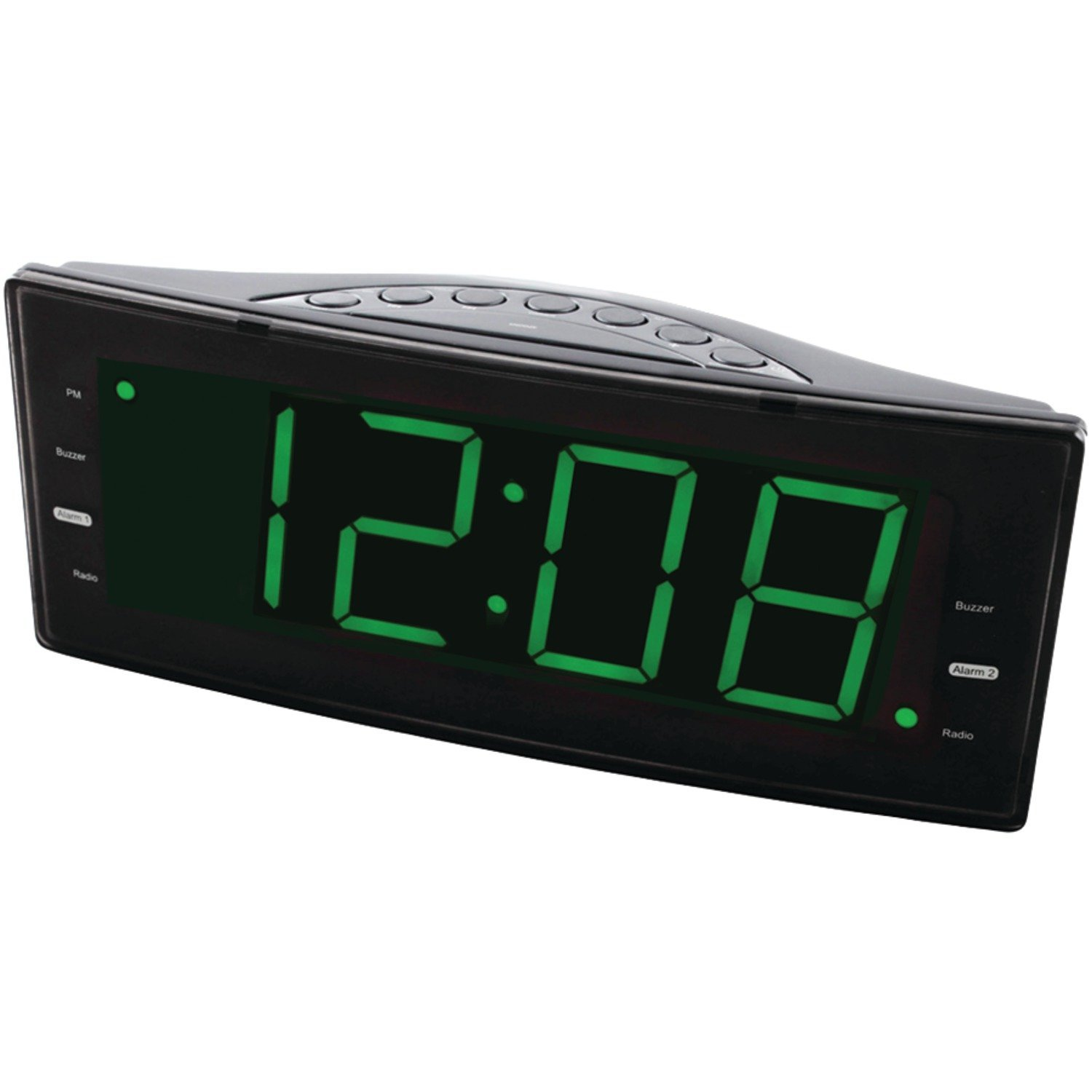 NRC-166 Easy-Read Dual Alarm Clock with Jumbo Display and...