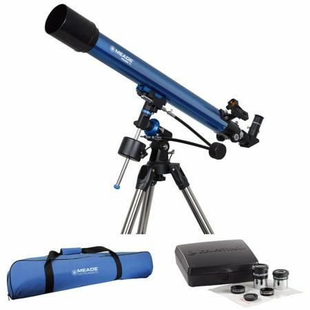 Meade Polaris 70mm German Equatorial Refractor Telescope with Accessories Bundle ()
