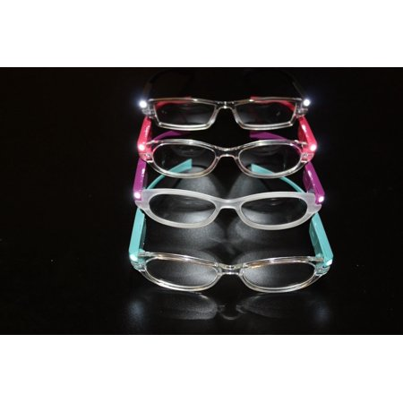 Contemporary Lighted Reading Glasses - Red - 2.50 (American Made Reading Glasses)
