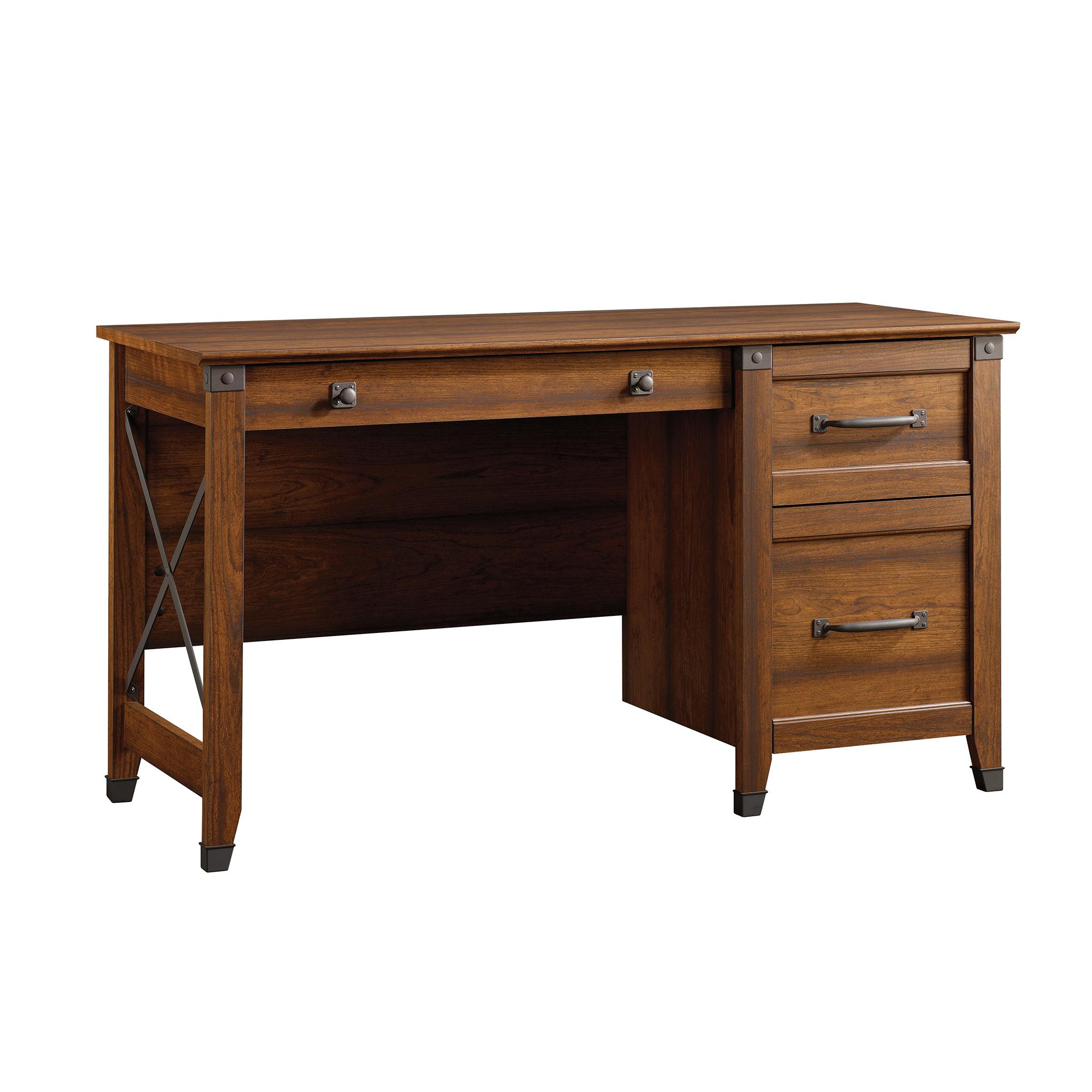 Sauder Carson Forge Desk With 3 Drawers Washington Cherry Walmart Com