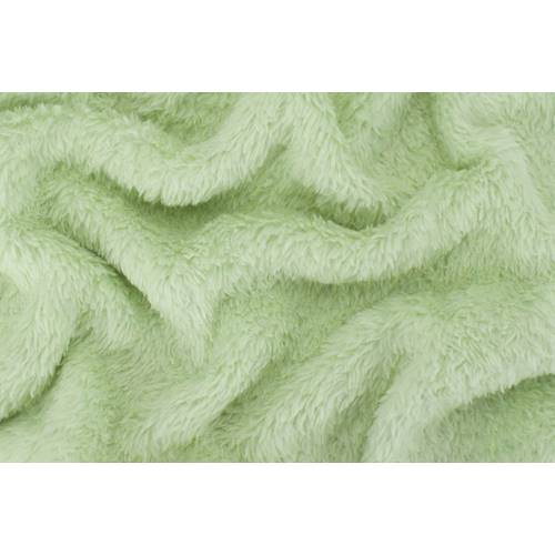 Whisper Green Double Sided Sherpa Fleece Knit Fabric By The Yard