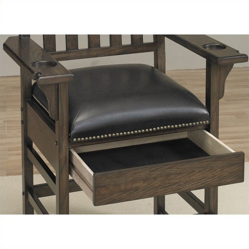 "American Heritage Billiards King Chair 30"" Bar Stool in Riverbank - image 4 of 5"