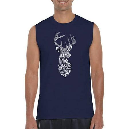 4441dfdf5f2242 Los Angeles Pop Art - Men s Sleeveless T-Shirt - Types of Deer - Walmart.com