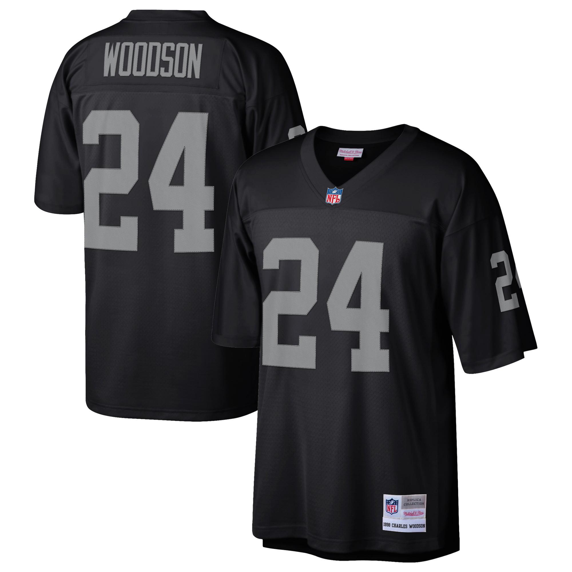Charles Woodson Oakland Raiders Mitchell & Ness Retired Player Replica Jersey - Black