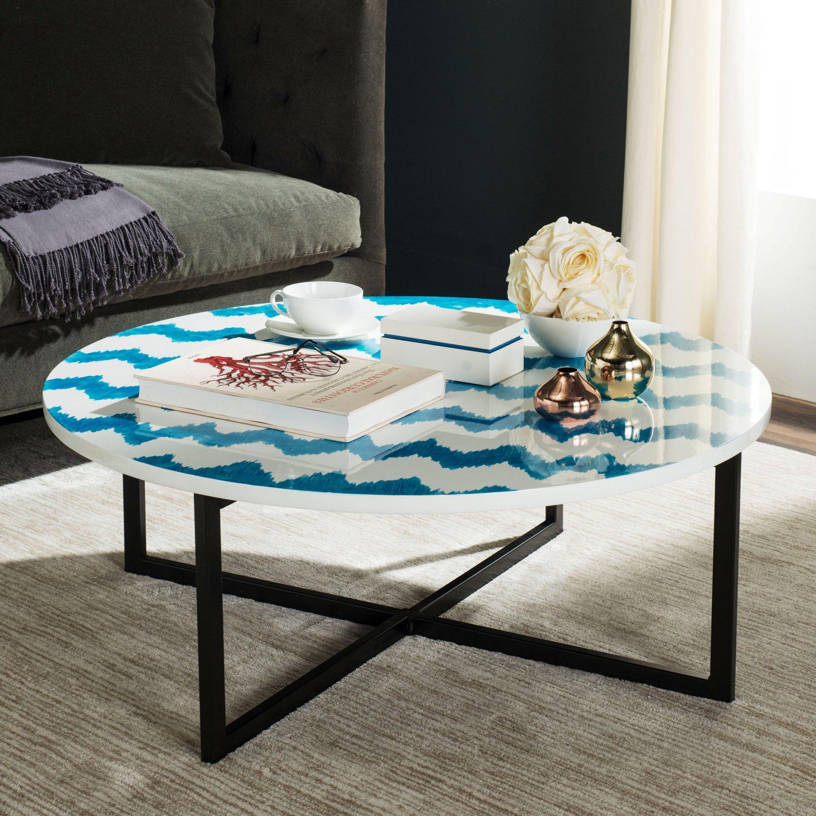 "Safavieh Cheyenne 39"" Round Coffee Table, Multiple Colors"