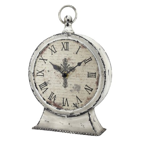 CKK Home Decor Faith Round Tabletop Clock (Insight Tabletop Clock)