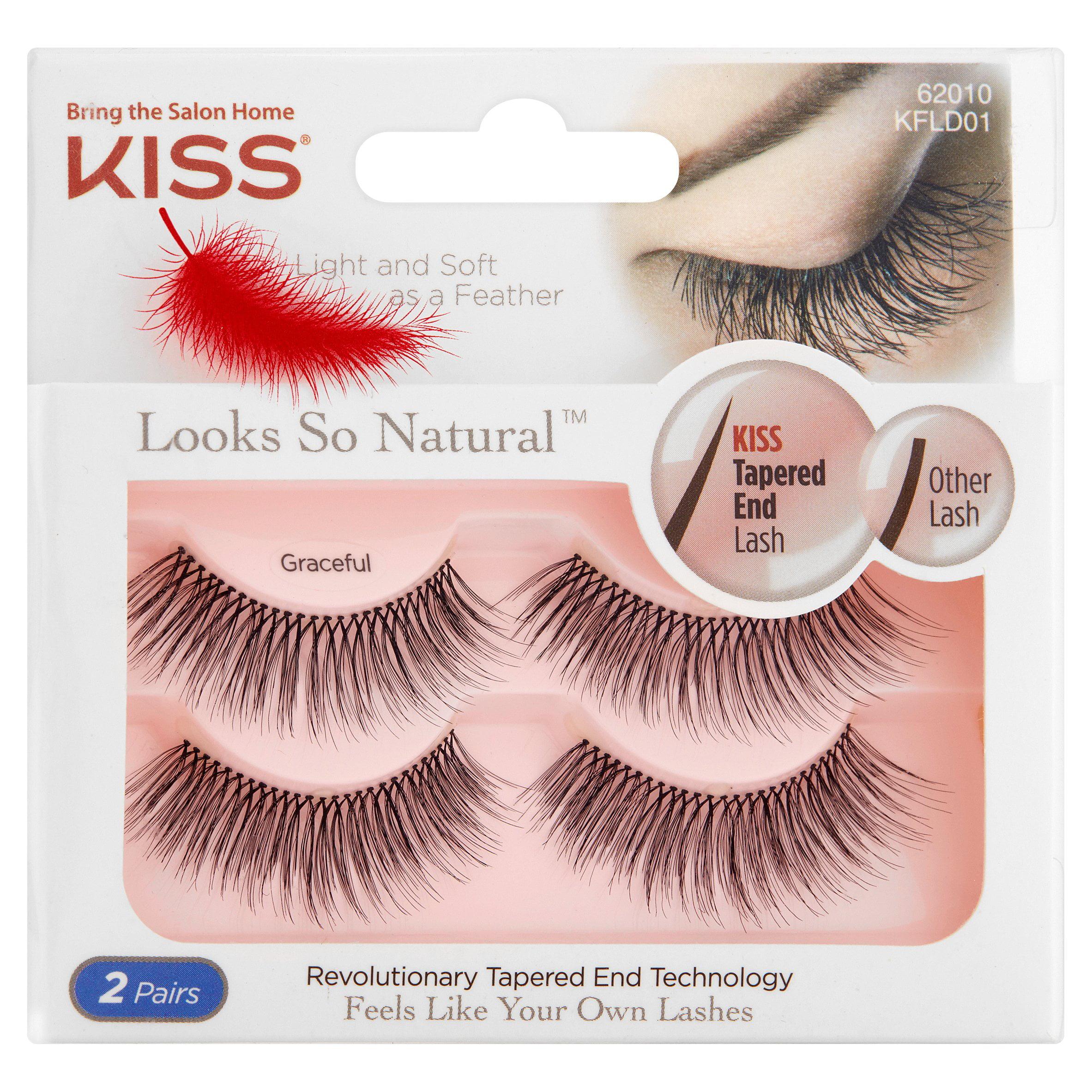 Kiss Looks So Natural 62010 Graceful False Eyelashes, 2 count