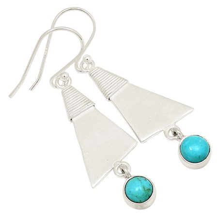 Sleeping Beauty Turquoise 925 Sterling Silver Earring Jewelry 18029E