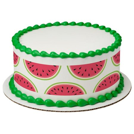 Tropical Watermelon Edible Cake Topper Image Strips