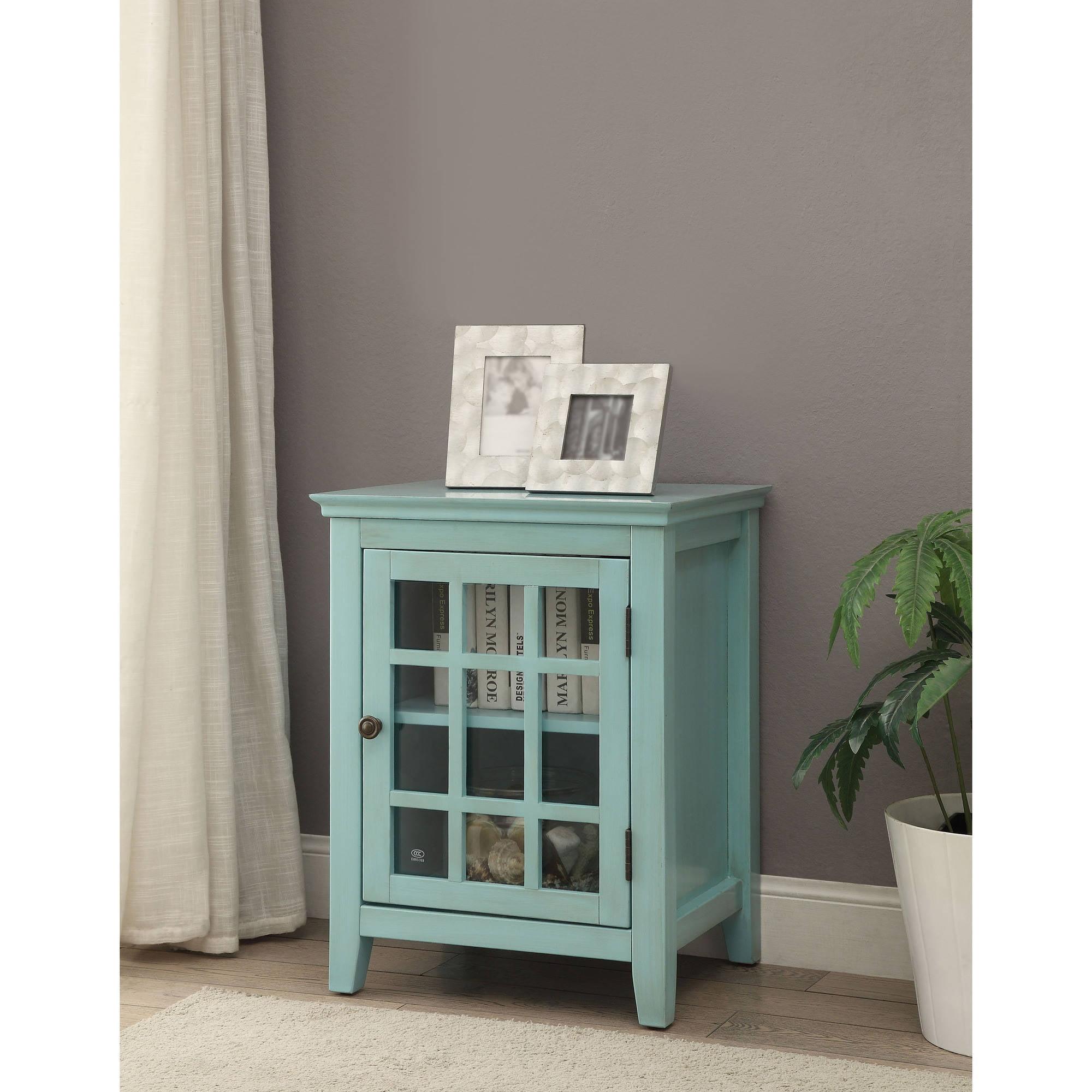 Linon Home Largo Antique Single Door Cabinet, Multiple Colors