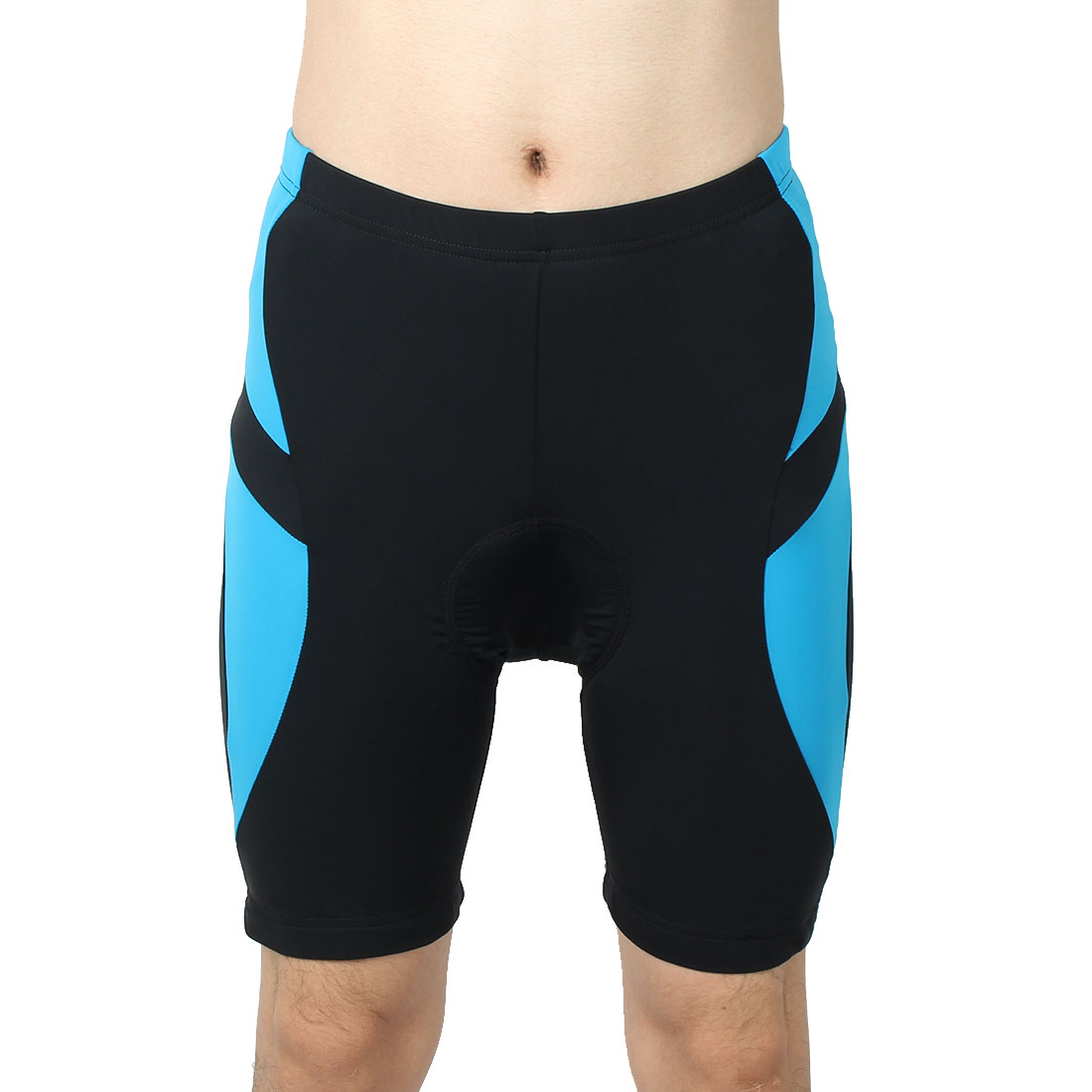 REALTOO Authorized Bicycle Underwear Cycling Shorts Pants Black Blue L (W 36)