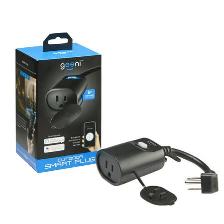 - Geeni Indoor/Outdoor Smart WiFi Plug, No Hub Required