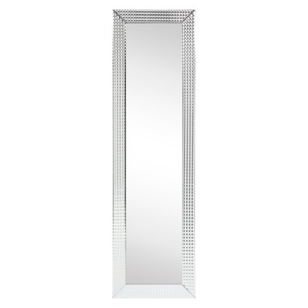 """Empire Art Direct Bling Glass Cheval Solid Wood Frame Covered Clear Panels, 1""""-Beveled Center Mirror Wall Décor"""