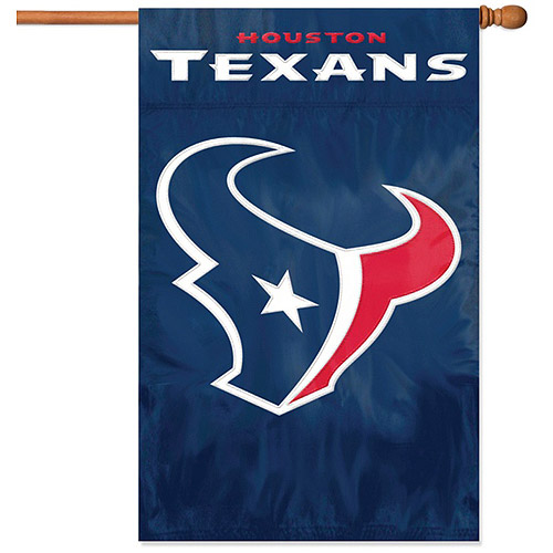 Party Animal Texans Applique Banner Flag