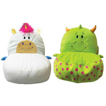 FlipaZoo Plush 2-in-1 Kids Stuffed Animal Chair, Multiple Options