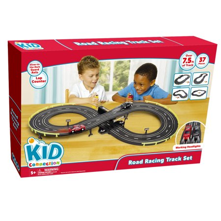 Kid Connection 37-Piece Road Racing Track Play Set, Battery Operated