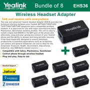 Yealink EHS36 8-PACK IP Phone Wireless Headset Adapter Plug and Play