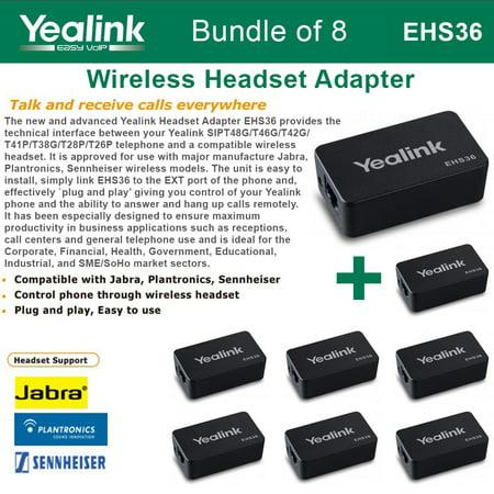 Handheld Wireless Ip Phone (Yealink EHS36 8-PACK IP Phone Wireless Headset Adapter Plug and)