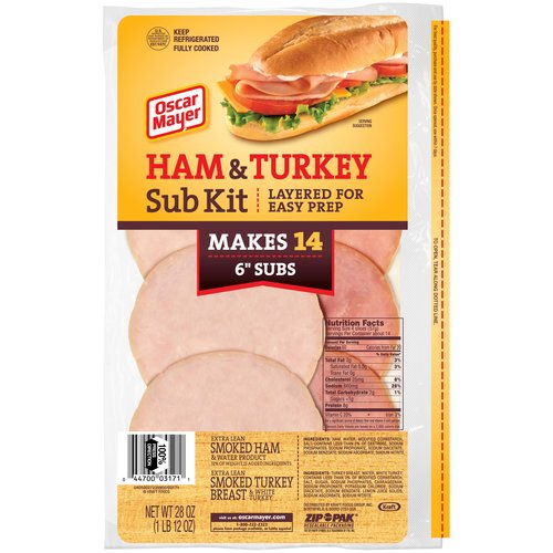 Oscar Mayer Ham & Turkey Sub Kit, 28 oz