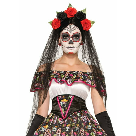 Day of the Dead Headband-Veil Set](Pierce The Veil Halloween Merch)