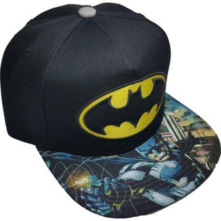 Batman Subliminated Flat Visor Baseball Cap