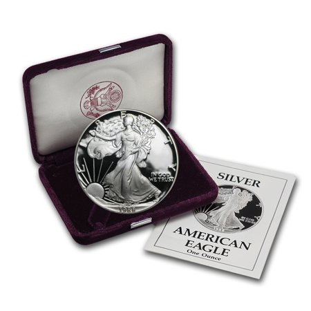 1988-S 1 oz Proof Silver American Eagle (w/Box &