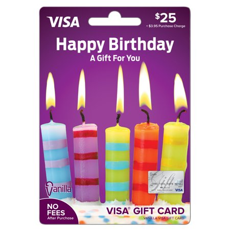 Vanilla Visa $25 Birthday Candles Gift Card