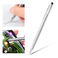 Insten Stylus Pens for Touch Screen Silver 2in1 Capacitive with Ball Point Pen For iPhone 11 / 11 Pro / 11 Pro Max XS Max XS 7 8 6s 6 Plus iPad Air Pro Mini Samsung Galaxy S7 S8 S9 S10 S10e Plus Edge