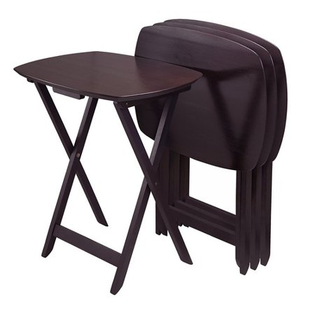 Winsome Oversize Single Tv Tables  Espresso  Set Of 4