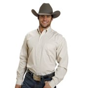 Western Shirt Mens L/S Button Check Gold 11-001-0579-0032 YE