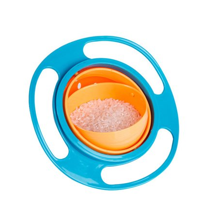 Universal Baby Spill Proof Snack Bowl Gyro Bowl Creative Rotate Kids Toddler Feeding Bowl 360 Degree Rotate Resistant Dish Toy (Creative Halloween Snacks For Toddlers)