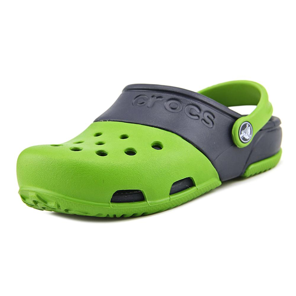 Crocs Electro II Clog Youth Round Toe Synthetic Green Clogs by Crocs