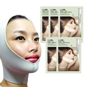 The Elixir Beauty V-line Face Lifting Slimmer Chin Lift Band with (5) x Slim V Fit Chin Care Mask Patch Patch Tightening Care Essence
