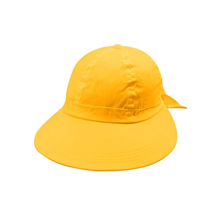 lemon yellow wide brim peak gardening sun hat