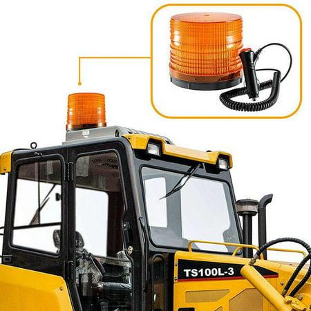 72 LED Magnetic Flash Strobe Rotating Beacon Lamp Emergency Warning Light Amber