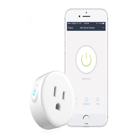 OkrayDirect Smart Plug Wi-Fi Enabled Mini Outlets Smart Socket Control Your Electric Devic