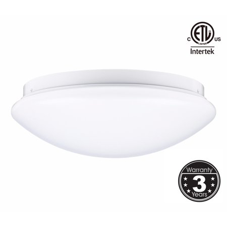 12 Inch LED Flush Mount Ceiling Light, 16W Dimmable LED Ceiling Fixtures, 5000K Daylight