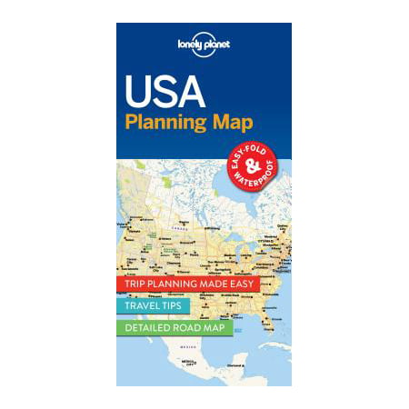 Travel guide: lonely planet usa planning map - folded map: 9781786579096