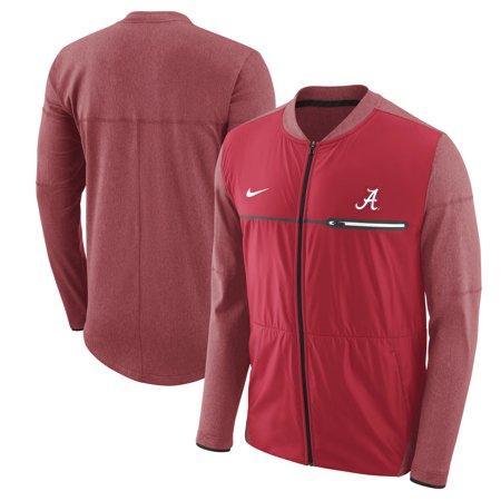 Alabama Crimson Tide Nike Coaches Sideline Hybrid Full-Zip Jacket - (Nike Mens Windrunner Full Zip Running Jacket)