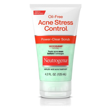 Neutrogena Oil-Free Acne Stress Control Power-Clear Scrub, 4.2 Fl. Oz.