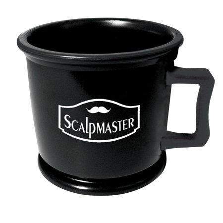 ScalpMaster Professional Barber Shaving Soap Lathering Mug, BLACk, MUG-BLK
