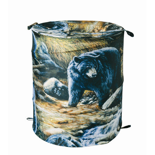 Casa Bella 1804 Black Bears Collapsible Laundry Hamper