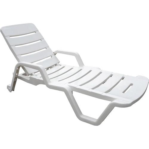Adams Chaise Lounge Chair, White