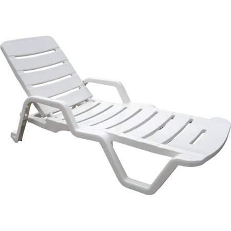 Adams Chaise Lounge Chair White Walmart Com