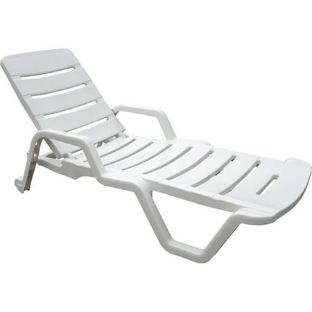 adams chaise lounge chair white
