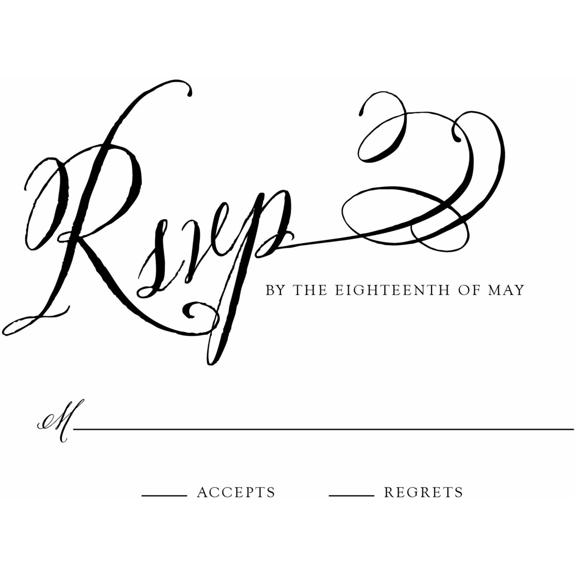 Elegant Script Standard RSVP
