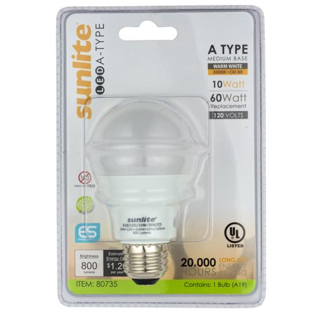 LED A Type Household 10W Light Bulb Medium Base,Daylight