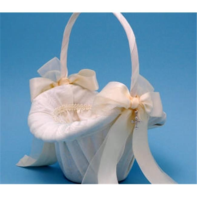 Beverly Clark 4UIT Grace Flower Girl Basket - Ivory