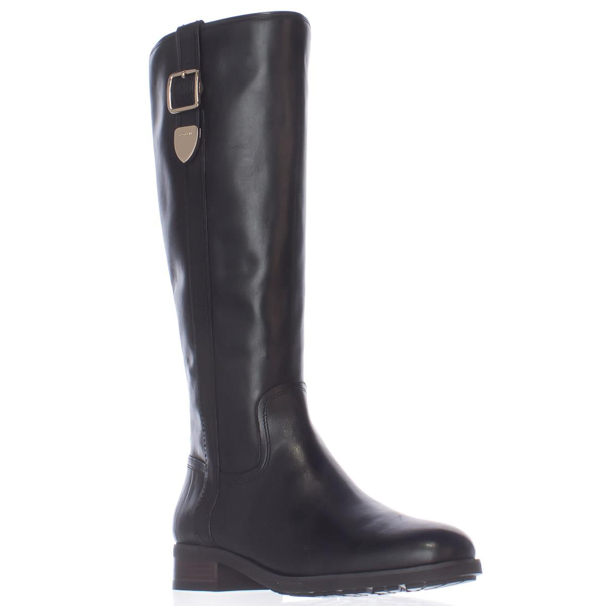 Womens Coach Easton Side Buckle Riding Boots - Black